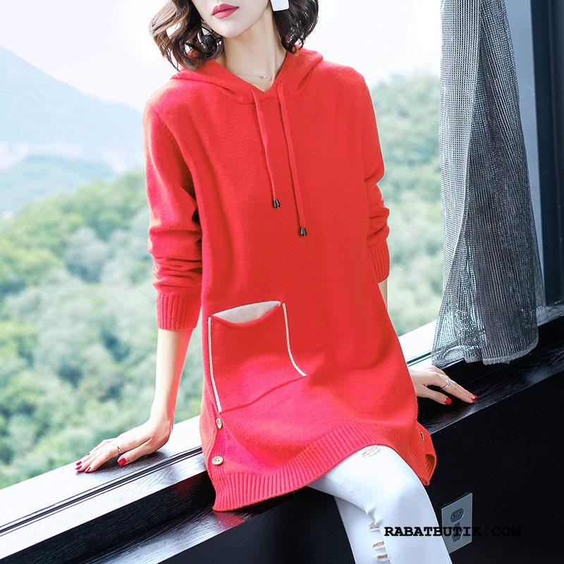 Hættetrøjer Dame Billige Fritids Brede Lange 2019 Sweater