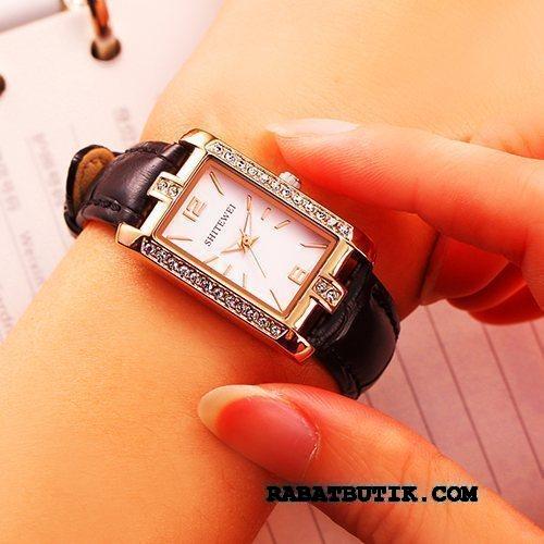 Armbåndsure Dame Salg Elegante Trend Firkantet Autentiske Pige Sort