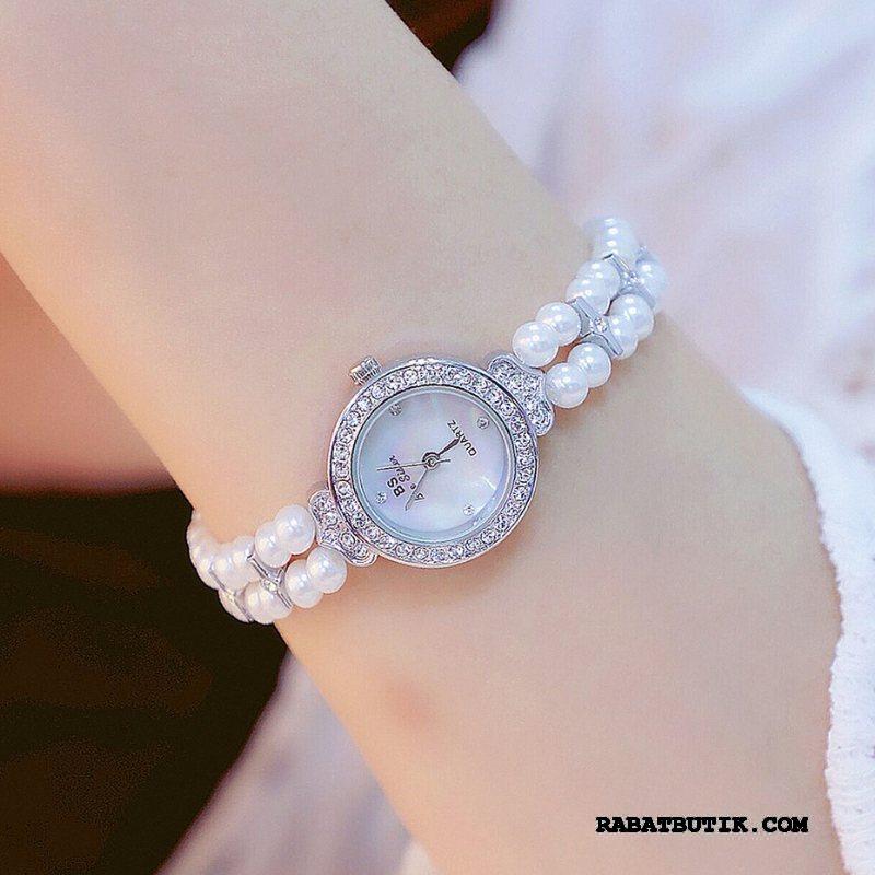 Armbåndsure Dame Tilbud High End Mode Autentiske 2019 Perle Hvid