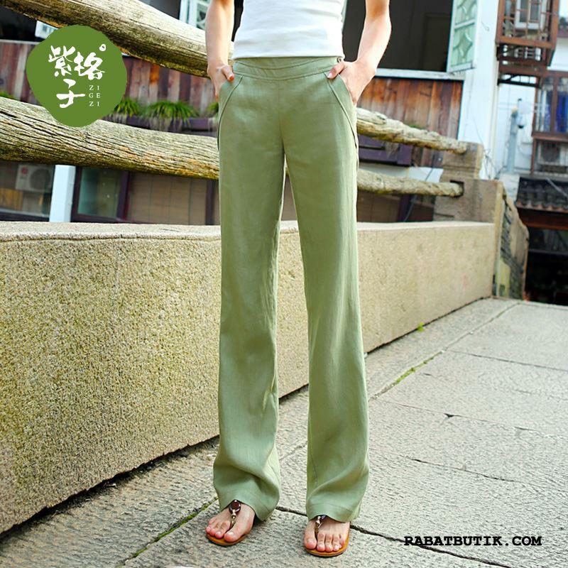 Bukser Dame Billige Tynde Forår Sommer Kvinder Store Størrelser Grøn