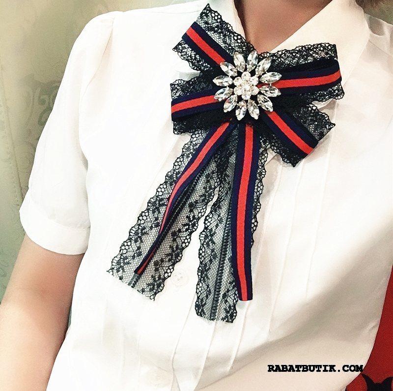 Butterfly Dame Billige Vintage Britisk Skjorte Tilbehør Lange Mørkeblå