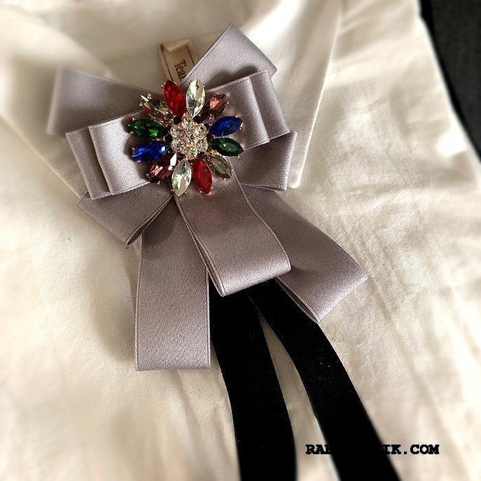 Butterfly Dame Køb Frakke Collar Blomst Erhverv Stjerne Kvinder Sølv Grå