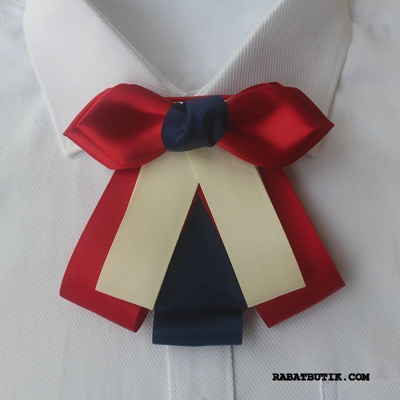 Butterfly Dame Tilbud Broche Kvinder Uniform High End Perle Rød Sølv