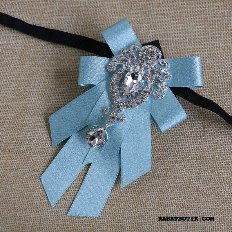 Butterfly Herre Køb Ægteskab Broche Mænd Kjole Collar Blomst Lyse Blå
