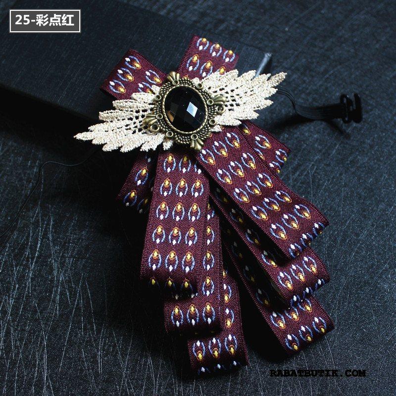 Butterfly Herre Salg Collar Blomst Ægteskab Skjorte Kjole Mænd Rødvin