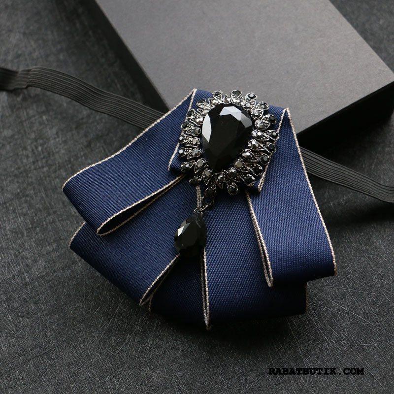 Butterfly Herre Udsalg Trend Sommerfugle Collar Blomst Forlovere Brudgom Mørkeblå