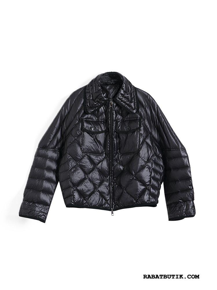 Dunjakker Dame Butik Vinter Trend Ny Frakke Mode Hvid Sort