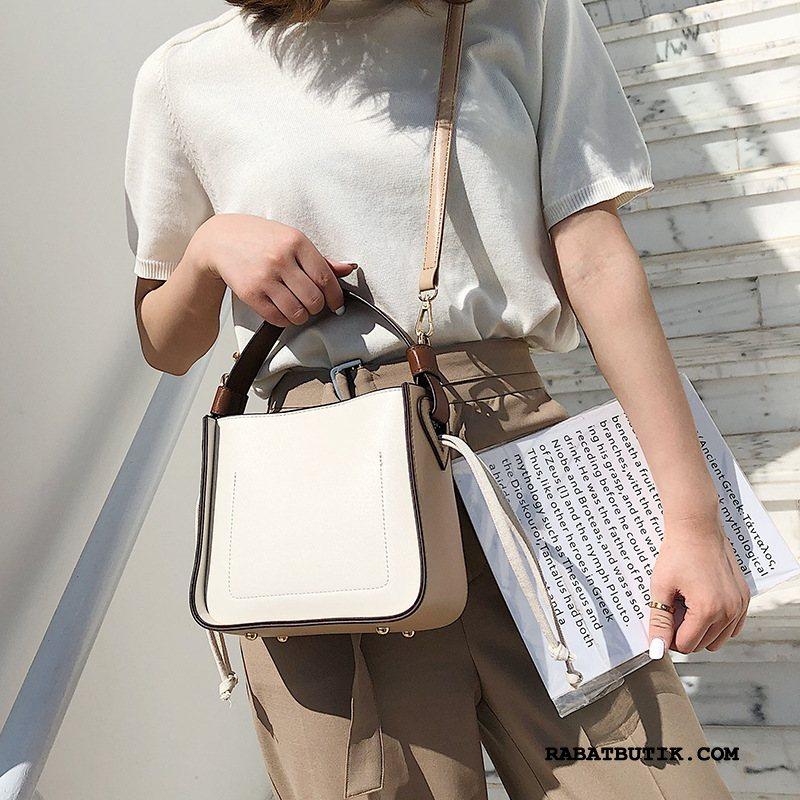 Håndtasker Dame Billige Elegante Messenger Taske Mode Alt Matcher Kvinder Hvid