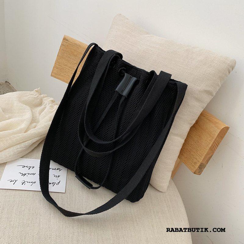 Håndtasker Dame Køb Løbegang Kvinder Messenger Taske Mode Sommer Sort