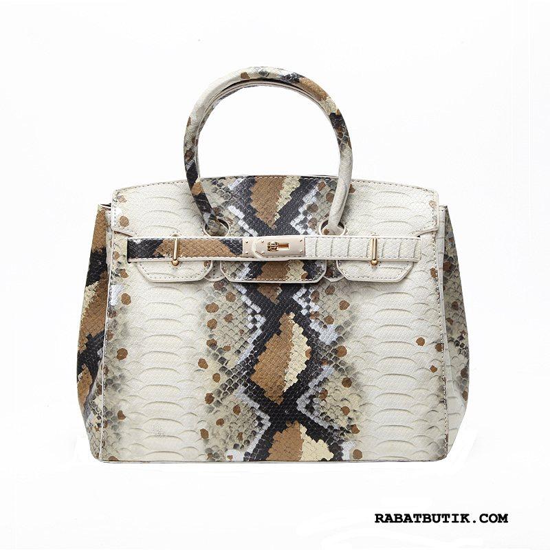 Håndtasker Dame Tilbud Messenger Taske Mode Europa Kvinder Store Tasker Brun Guld