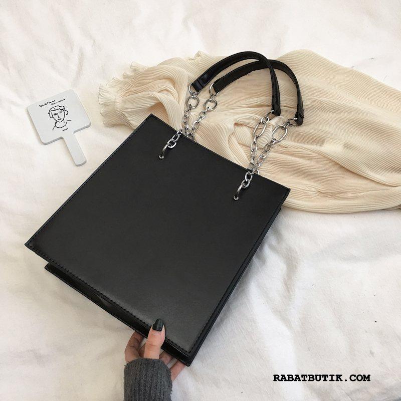 Håndtasker Dame Tilbud Trend Stor Kapacitet Skuldertaske Shopping Kvinder Sort