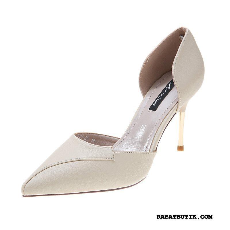 Højhælede Sko Dame Billige Høje Hæle Sko Enkelt Sko Mode Trend Kvinder Lyse Abrikosfarve