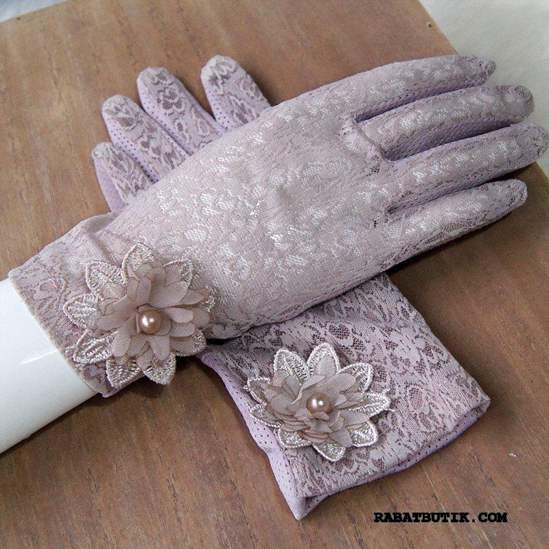 Handsker Dame Rabat Køre Banquet Skridsikre Tynd Kort Lilla