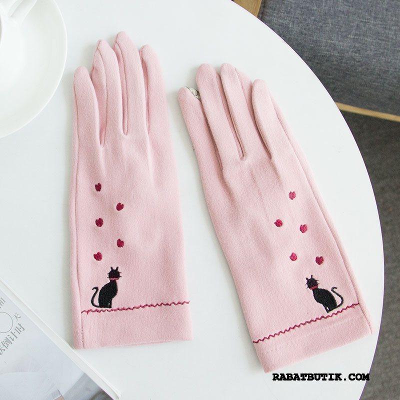 Handsker Dame Tilbud Kold Kvinder Kashmir Nuttet Forår Pink