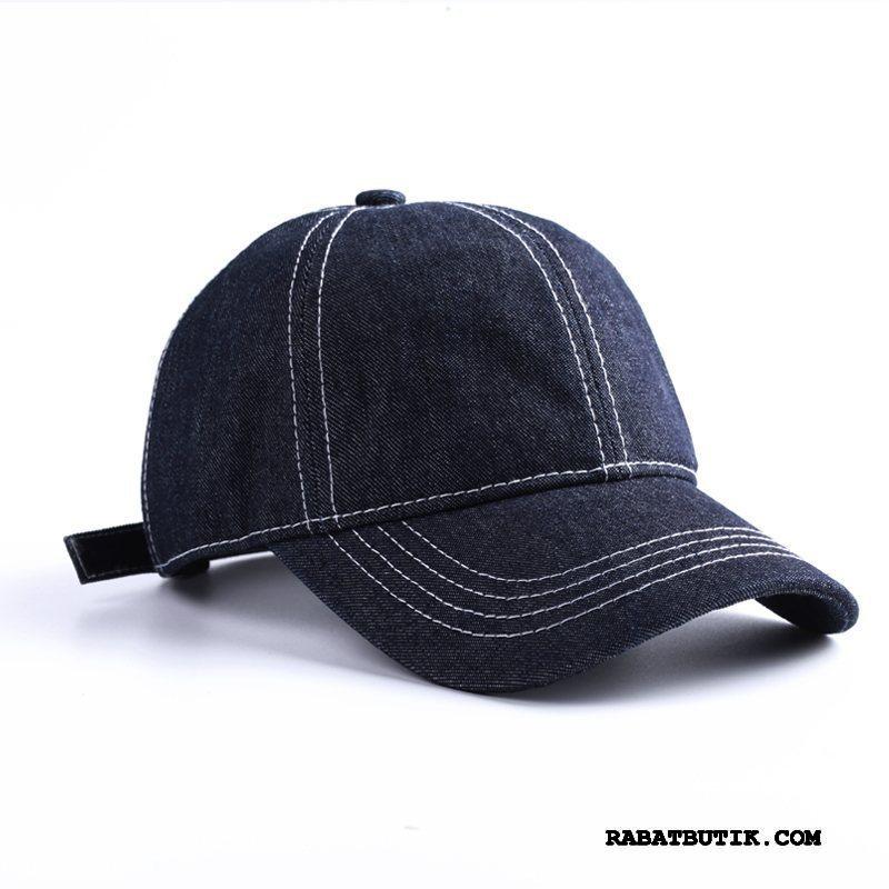 Huer Herre Køb Kasket Alt Matcher Cowboy Vintage Misfarvet Blå