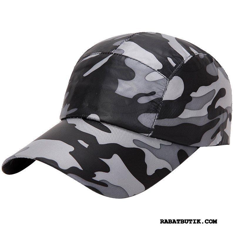 Huer Herre Køb Mænd Tynd Solcreme Udendørs Sommer Camouflage Sort Cyan