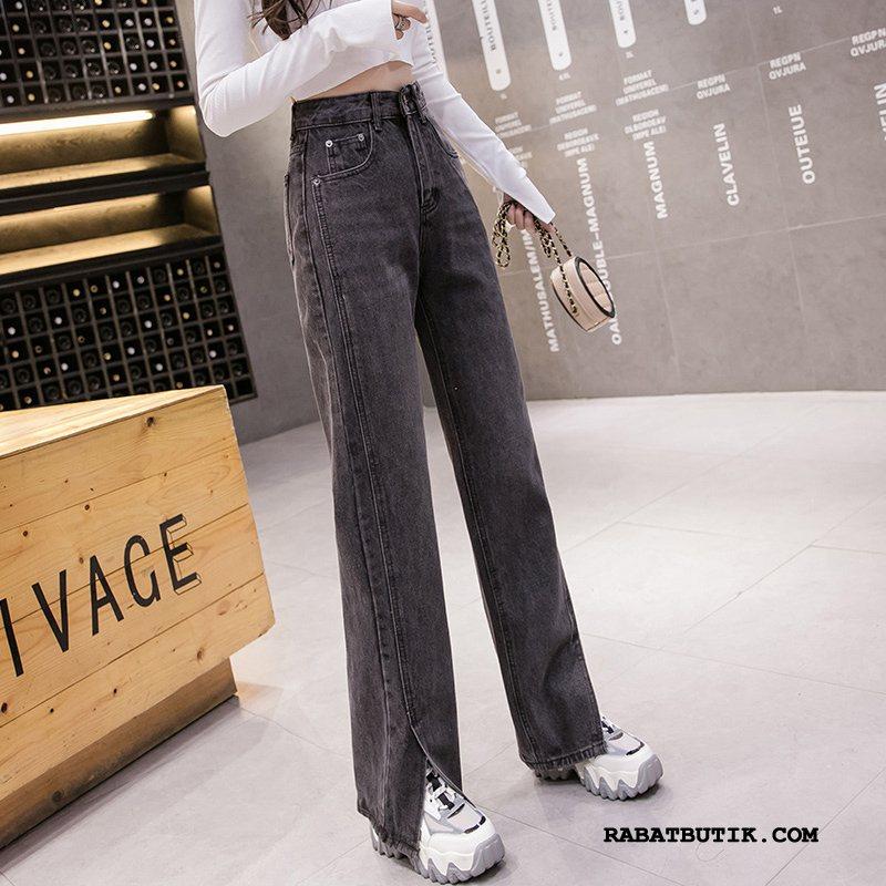 Jeans Dame Billig Trend Kvinder Cowboybukser Jeans Mode Ny Sort