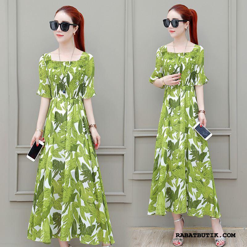 Kjoler Dame Salg Ny Chiffon Trend Sommer Elegante Grøn