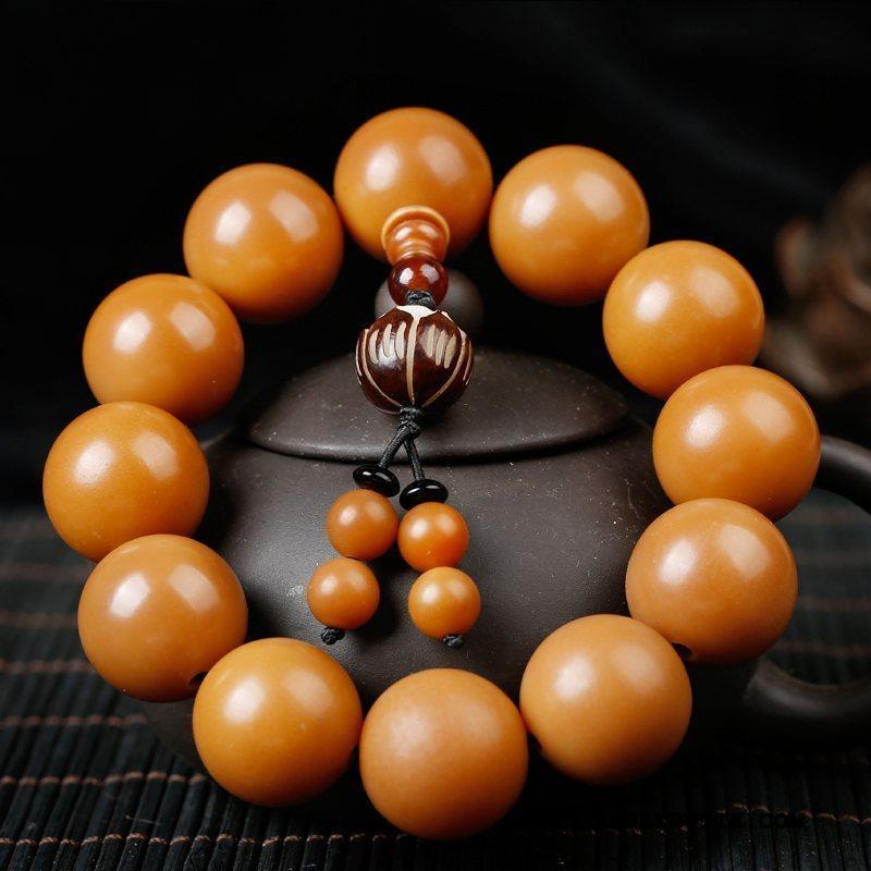Perle Armbånd Herre Billig Mænd Kvinder Stor Gul