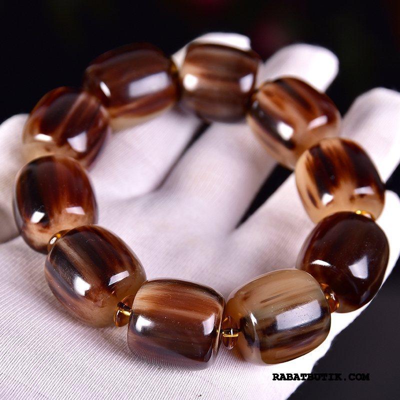 Perle Armbånd Herre Billige Damer Mænd Etnisk Naturlig Silke Lilla Brun Guld