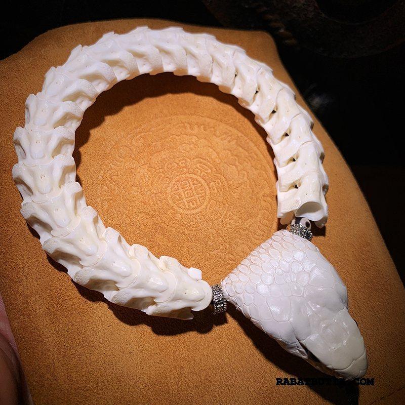 Perle Armbånd Herre Billige Kvinder Elskere Gave Mænd Hvid