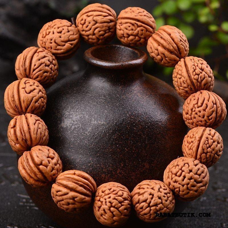 Perle Armbånd Herre Billige Kvinder Træ Mænd Brun Fersken Puffer