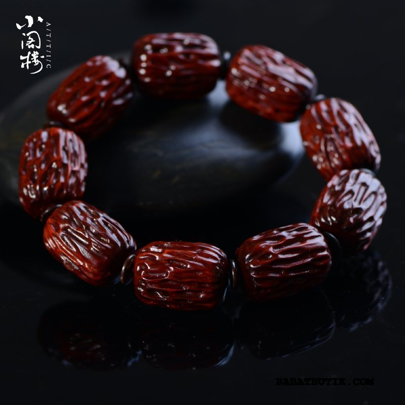 Perle Armbånd Herre Billige Mænd I Hånden Kvinder Lille Skulptur Lilla Rød