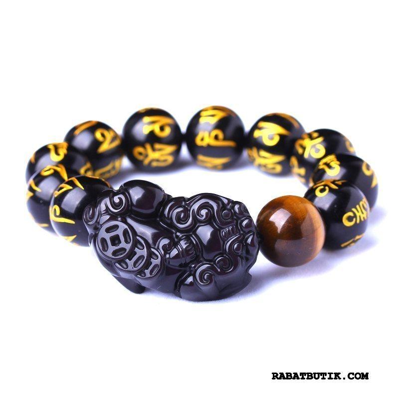 Perle Armbånd Herre På Udsalg Gave Mænd Naturlig Sort Guld
