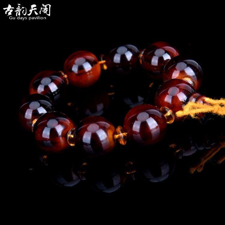 Perle Armbånd Herre Salg Naturlig Kvinder Mænd Silke Rød