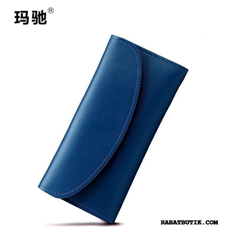 Punge Dame På Udsalg Langt Mode Tegnebog Elegante Kvinder Mørkeblå