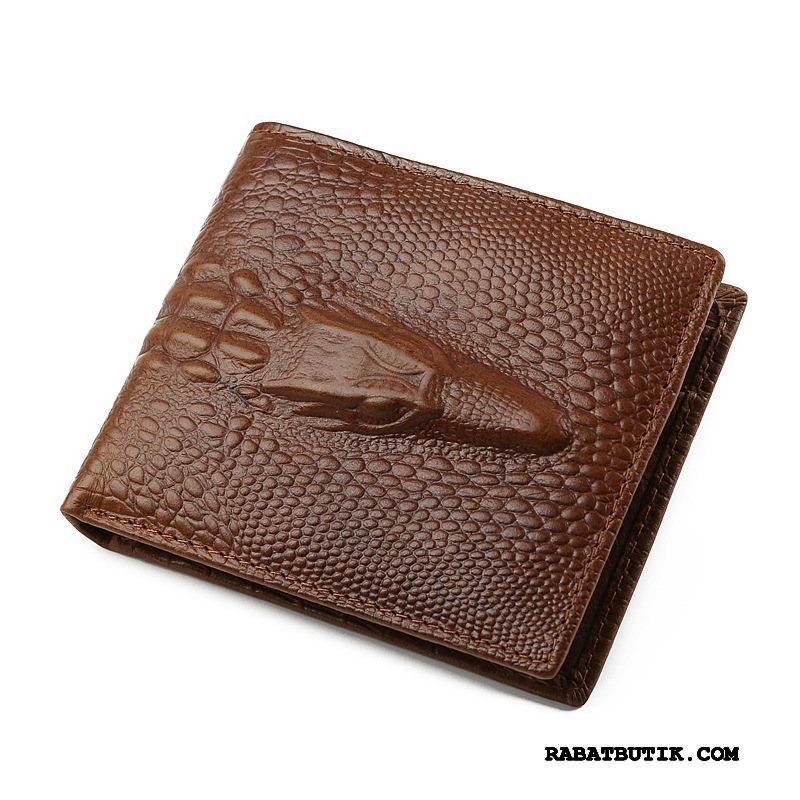 Punge Herre På Udsalg Ægte Læder Tegnebog Mænd Vintage Brun