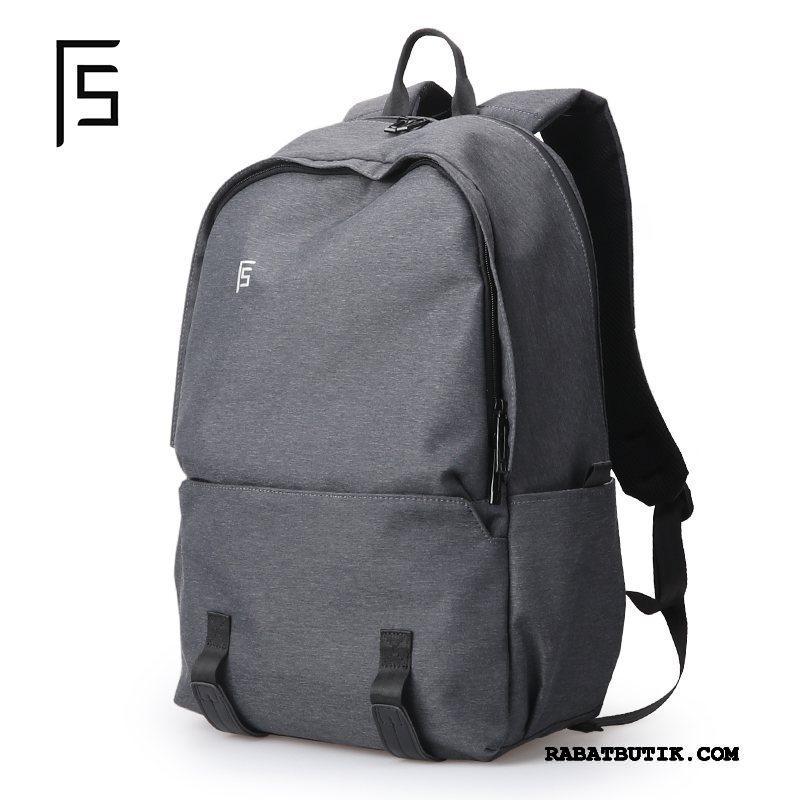 Rygsække Herre Billig Mode Mænd Skoletaske Computertaske Casual Grå