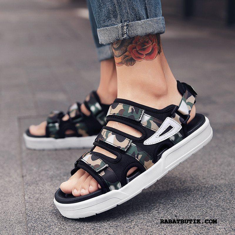 Sandaler Herre Billige Trend Sommer Skridsikre Studerende Mode Sand Grøn