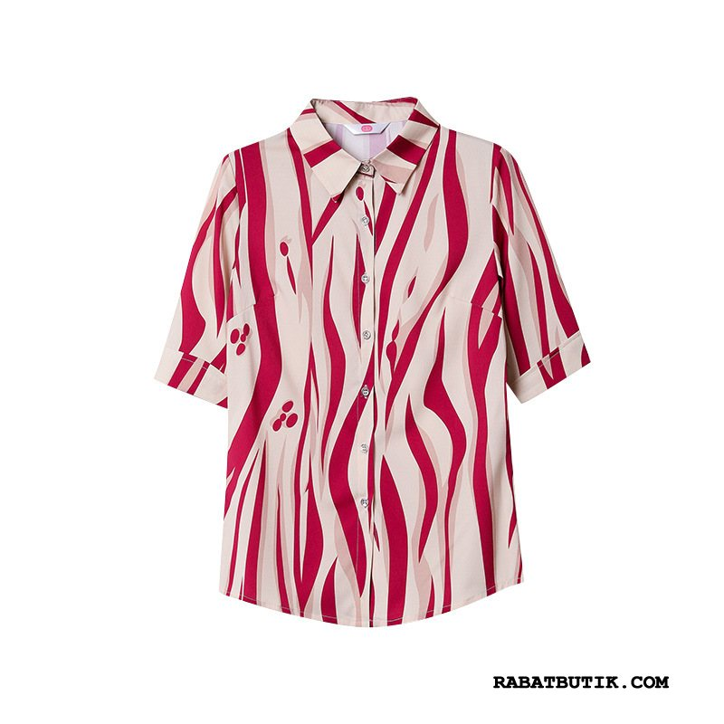 Skjorter Dame Butik Jakke Ny Vintage Brede Bluser Skjorter Rød