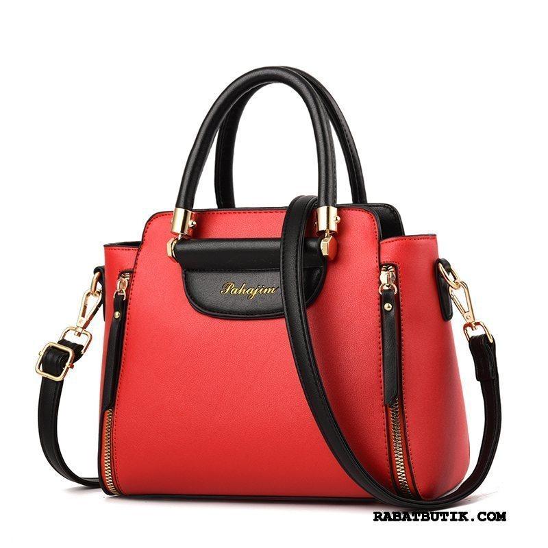 Skuldertasker Dame Tilbud Store Tasker Kvinder Håndtaske Alt Matcher Mode Rød