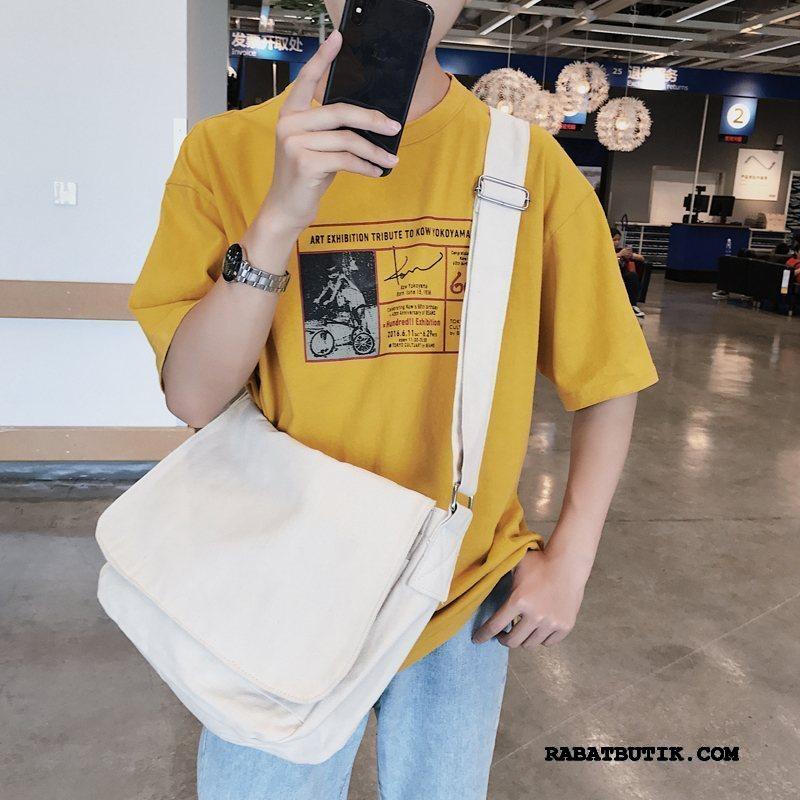Skuldertasker Herre Udsalg Kunst Casual Multifunktions Store Tasker Håndtaske Hvid Beige