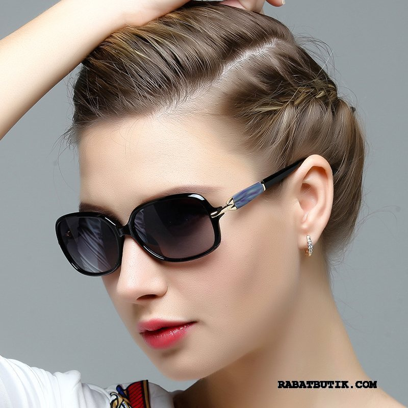 Solbriller Dame Billig Trend Kvinder Mode Polarisator Mesh Lilla Rød Sort