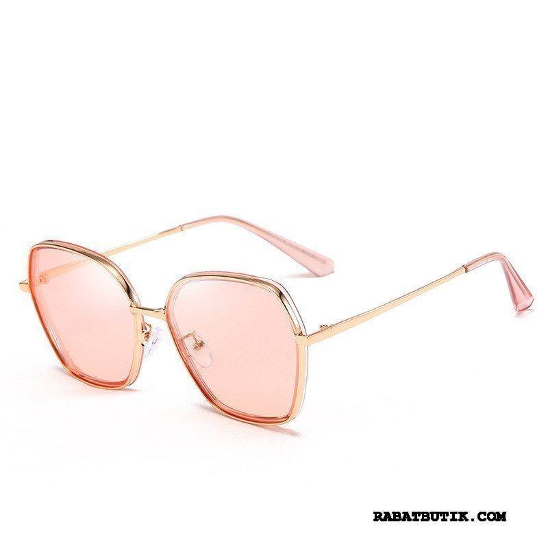 Solbriller Dame Billige Kvinder Ny Runde Ansigt Polarisator Stor Lyserød Rød