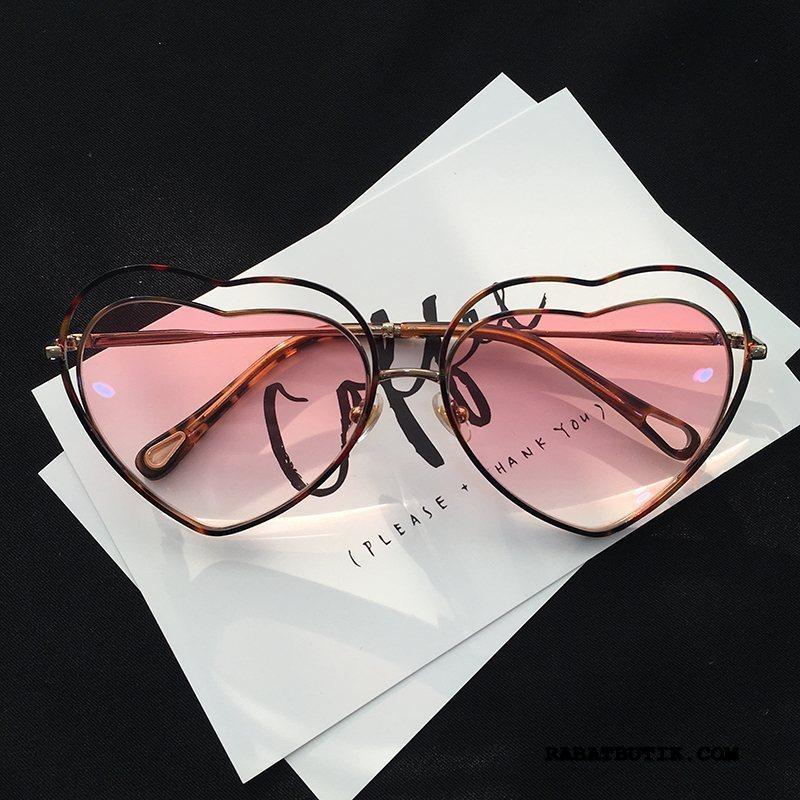 Solbriller Dame Tilbud Mesh Kvinder Trend Personlighed Street Fotografering Pink Sand Rød Fersken Puffer