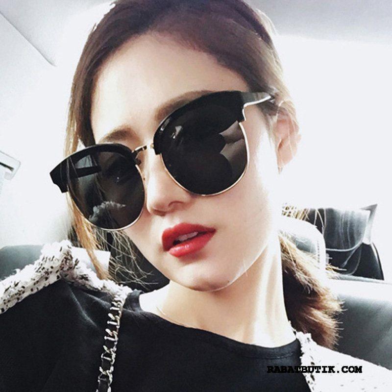 Solbriller Dame Tilbud Mode Mesh Stjerne Kvinder Stor Rød Sort