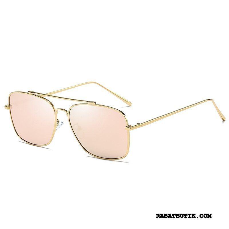 Solbriller Herre Billig Aluminium Magnesium Polarisator Natsyn Blomster Mænd Lyserød Guld