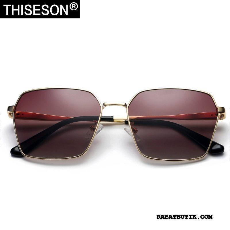 Solbriller Herre Billige Polarisator Mænd Personlighed Køre Vintage Guld