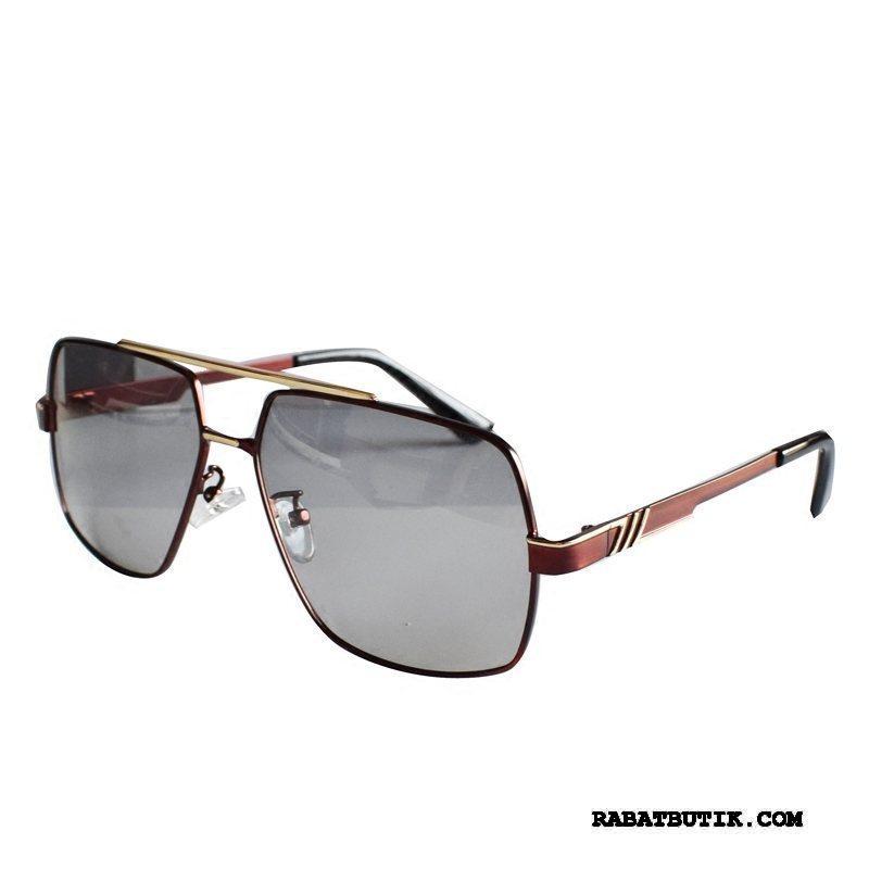 Solbriller Herre Salg Mænd Køre Runde Ansigt Polarisator Trend Rød Guld