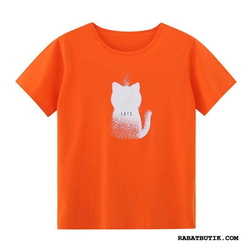 T-shirts Herre Butik Halv Ærme Kort Ærme Ny Rund Hals 2019 Orange