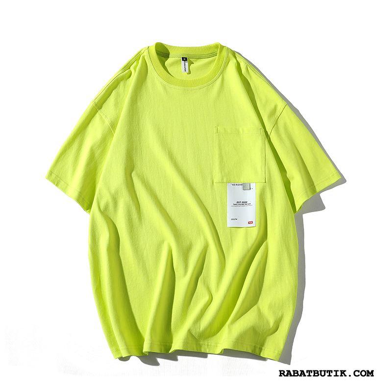 T-shirts Herre Tilbud Personlighed Trend Mænd Fritids Kreativ Fluorescens Grøn