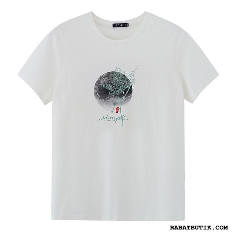T-shirts Herre Tilbud Rund Hals Mænd Trend Jakke Ny Hvid