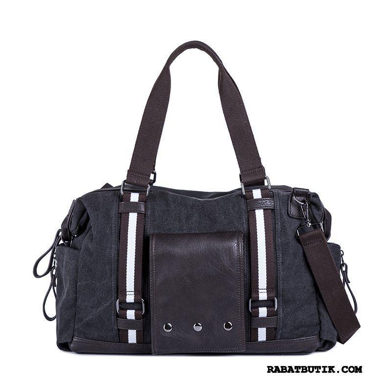 Vandrerygsække Herre Rabat Lærred Casual Vintage Håndtaske Trend Sort